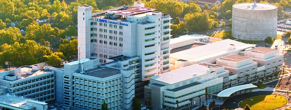 aerial view of the uc davis health center in sacramento