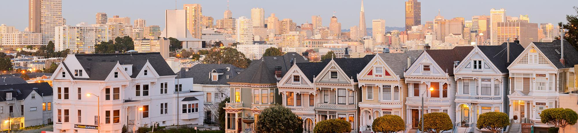 view of row houses in san francisco. image credit: time.com