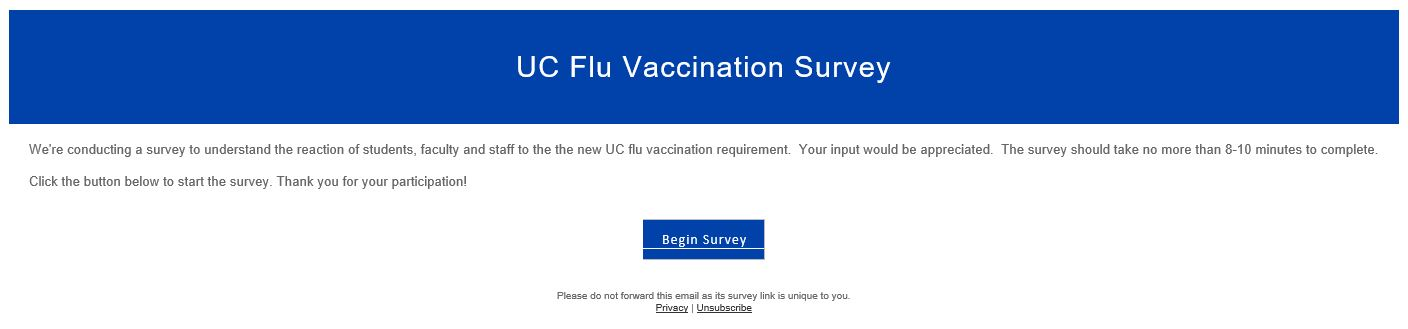 screengrab of unapproved survey.