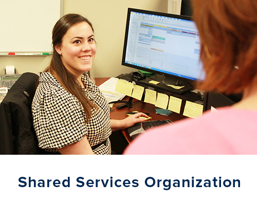 Click this graphic to go to the Shared Services Organization.